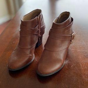 Brown Thalia Sodi Ankle Booties – Never worn.